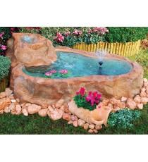 Giardini d' acqua bacino liguria con bordo