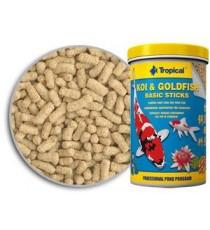 Tropical Pond Koi & Goldfish Basic Sticks Secchiello 5 Litri /450gr - Mangime di Base in stick galleggianti