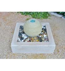 Giardini d' acqua sfera saturno marmo led