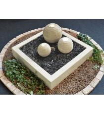 Giardini d' acqua sfere nettuno marmo led