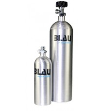 Blau aquaristic Bombola CO2 in alluminio ricaricabile 1L
